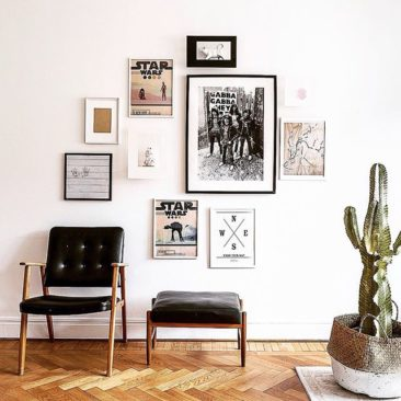 Our friends at @mainstreetsthlm sent us this home styling pic, made in conjunction with @scandinaviandesignfactory . Feels pretty right to be sharing wall space with Star Wars and The Ramones, as we are not-so secret geeks about both.