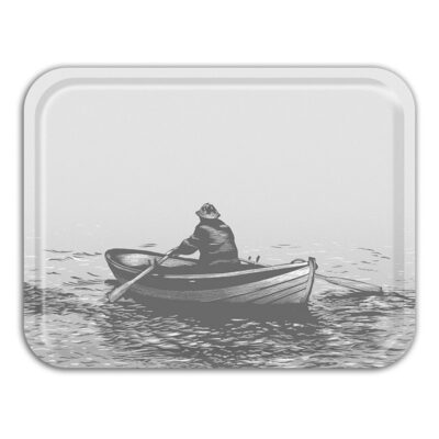 Rectangular Tray Rower Grey 2-pack
