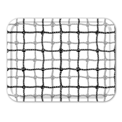 Rectangular Tray Plaid Net Black 2-pack