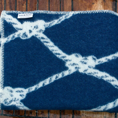Wool Blanket Wavy Blue Net 2-pack