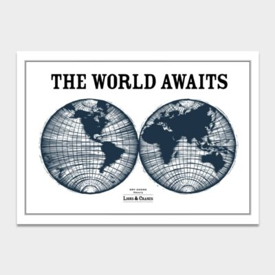 Poster Large World Awaits Blue 2-pack