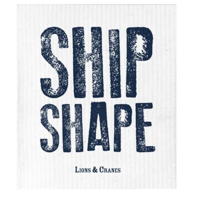 Dish Cloth Ship Shape White 10-pack