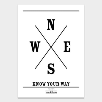 Poster Large Know Your Way 2-pack