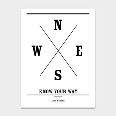 Poster Know Your Way 4-pack