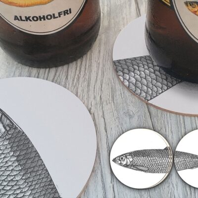 Circular Coasters Herring (4 pcs) 5-pack