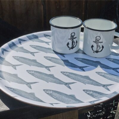 Circular Tray School of Herring 2-pack