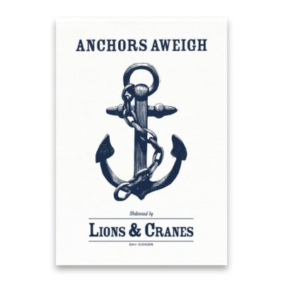 Kitchen Towel Anchor White 5-pack