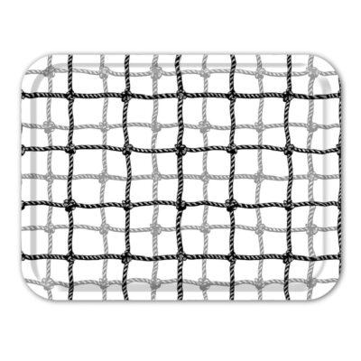 Rectangular Tray Plaid Net Black 2-pack