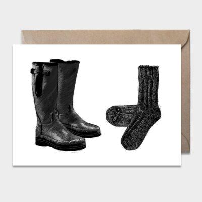 Postcard Boots & Socks 10-pack