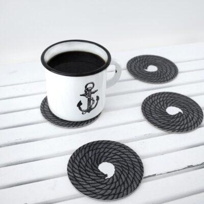 Circular Coasters Rope Coil (4 pcs) 5-pack