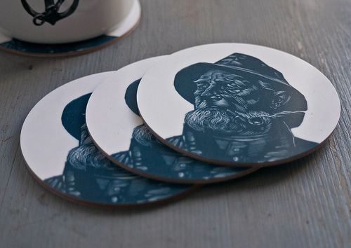 Circular Coasters Feskarn White (4 pcs) 3-pack