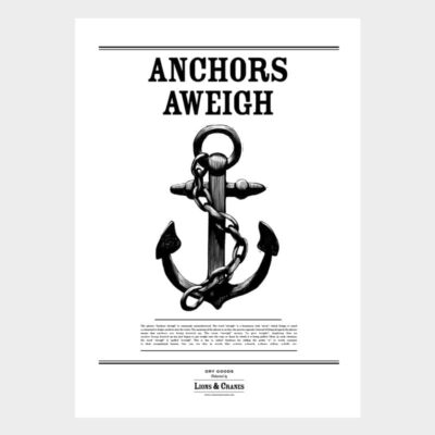 Poster Large Anchors Aweigh 2-pack