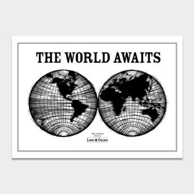 Poster Large World Awaits Black 2-pack