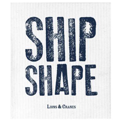 Dish Cloth Ship Shape White 10-pack