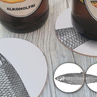 Circular Coasters Herring (4 pcs) 5-pack